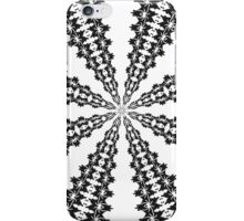 Spider effects (bright white and black) iPhone Case/Skin