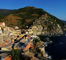 A Village in Cinque Terre by Michiko Lawrence