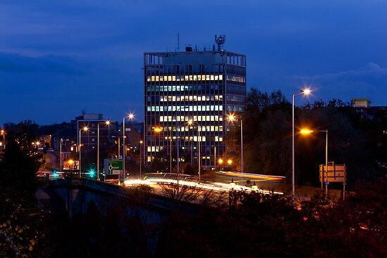 Carlisle Civic Centre at Dusk by Jan Fialkowski