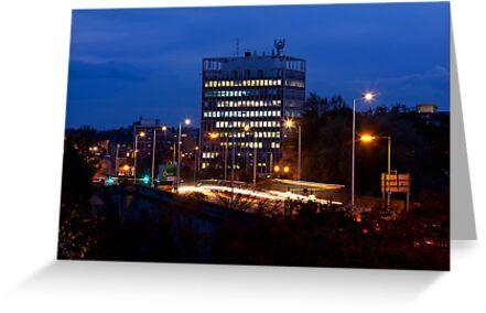 Carlisle Civic Centre at Dusk by Jan Fialkowski