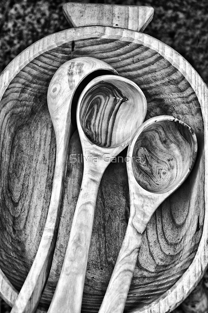 Wooden ladles by Silvia Ganora