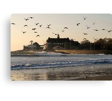 Narragansett Towers Morning Walk Canvas Print