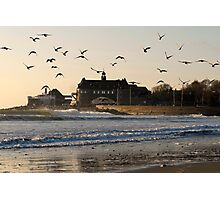 Narragansett Towers Morning Walk Photographic Print