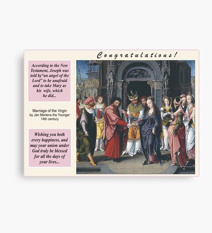 Jan Mertens the Younger's Marriage of the Virgin Canvas Print