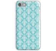 TIFFANY BLUE - DAMASK iPhone Case/Skin