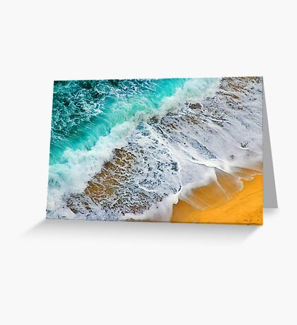 Waves abstract Greeting Card