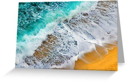Waves abstract by Silvia Ganora