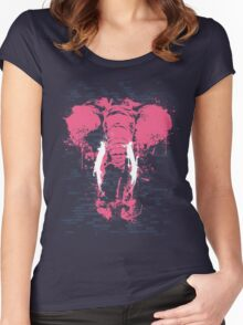 The Pink Elephant Women's Fitted Scoop T-Shirt