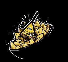 Bill Cipher boss of Doritos by Contenebratio