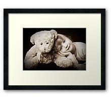 A girl's best friend.. Framed Print