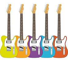 Telecaster Rainbow Photographic Print
