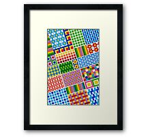 Colors With Squares And Dessins - Brush And Gouache Framed Print