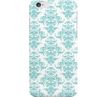 TIFFANY BLUE - WHITE DAMASK iPhone Case/Skin