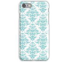 TIFFANY BLUE - WHITE DAMASK iPhone Case/Skin