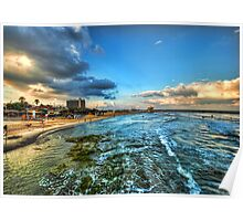a good morning from HIlton's beach, Tel Aviv Poster
