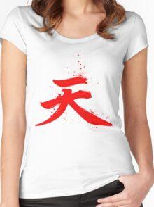 Akuma Kanji Women's Fitted Scoop T-Shirt