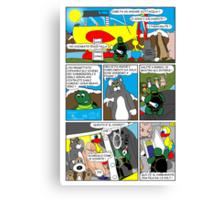 """Rick the chick  """"THE MAGIC SHELL (Il pesce palla) parte 29"""" Canvas Print"""