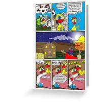 "Rick the chick  ""THE MAGIC SHELL (tutti a nanna) parte 31"" Greeting Card"