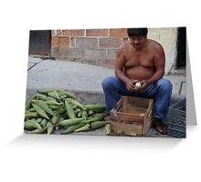 Corn - the holy plant for the Mexican people - Maiz - la planta sacrada para los Mexicanos Greeting Card