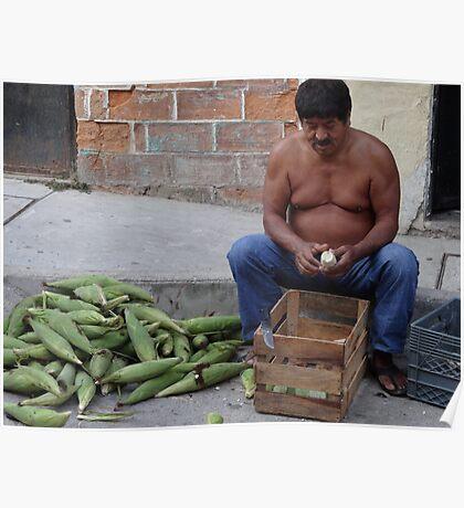 Corn - the holy plant for the Mexican people - Maiz - la planta sacrada para los Mexicanos Poster