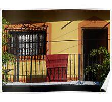 Colours of a balcony - Colores de un balcón Poster