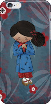 Apprentice Geisha iPhone Case by Kristy Spring-Brown