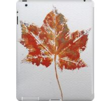 Maple Leaf Print 1 iPad Case/Skin