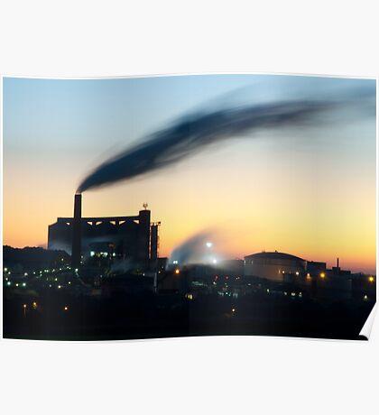 Sugar Beet factory at Sunset Poster