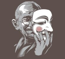 DISOBEY - Gandhi Putting on Guy Fawkes Mask T-Shirt