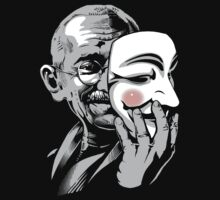 DISOBEY - Gandhi Putting on Guy Fawkes Mask