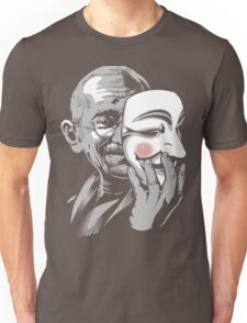 DISOBEY - Gandhi Putting on Guy Fawkes Mask Unisex T-Shirt