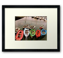 Colours in the Harbour Framed Print