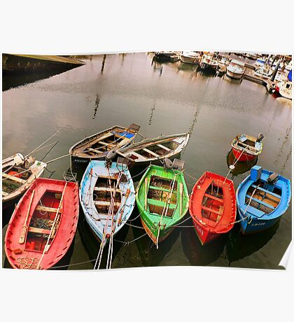 Colours in the Harbour Poster