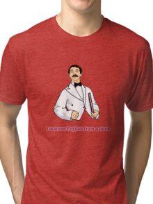 "Manuel ""I learned English..."" Tri-blend T-Shirt"