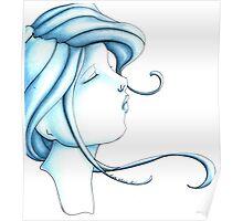 Cameo Blue Poster
