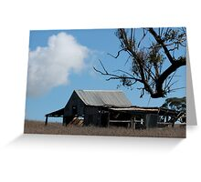 A barn on the back road Greeting Card