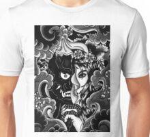 hanya mask with geisha girl Unisex T-Shirt