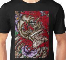 skull with koi fish  Unisex T-Shirt