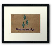 Worn Generosity Framed Print