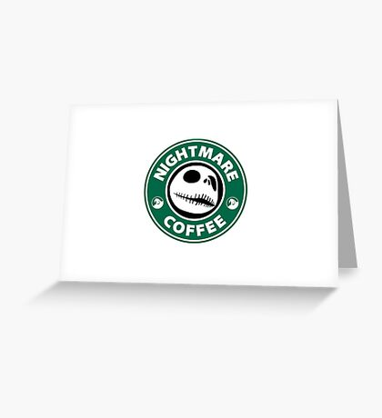 Nightmare Before Coffee - Jack Greeting Card