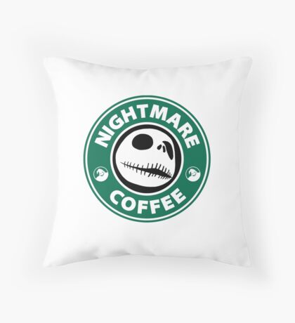 Nightmare Before Coffee - Jack Throw Pillow