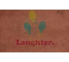 Worn Laughter Photographic Print
