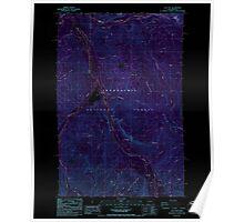 USGS Topo Map Washington State WA Sun Top 244129 1986 24000 Inverted Poster