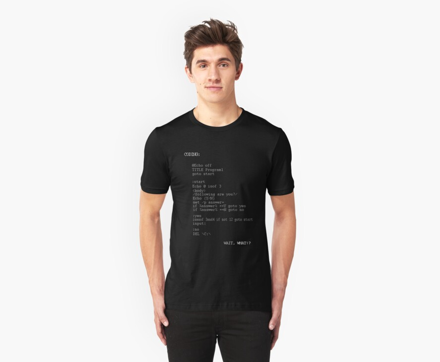 Coding Themed Tee by Fastlines49s
