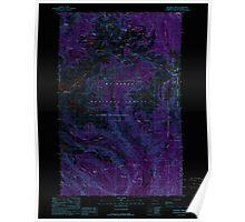 USGS Topo Map Washington State WA Shuksan Arm 243704 1989 24000 Inverted Poster