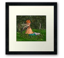 Little Miss July .. calendar Framed Print