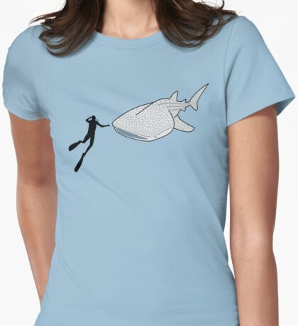Whale Shark Womens Fitted T-Shirt