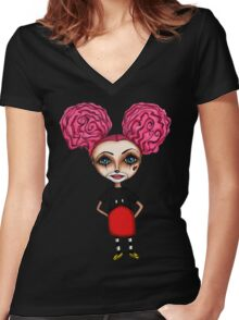 Mikey Girl Women's Fitted V-Neck T-Shirt