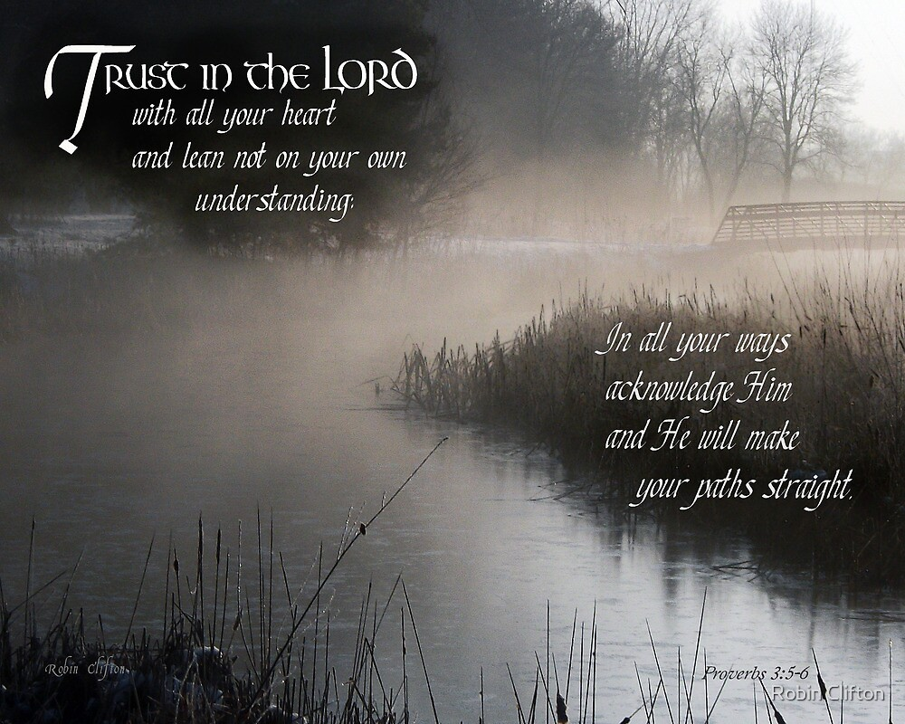 Trust in the Lord ~ Proverbs 3:5-6 by Robin Clifton