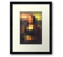 Monalisa unconsituted Framed Print